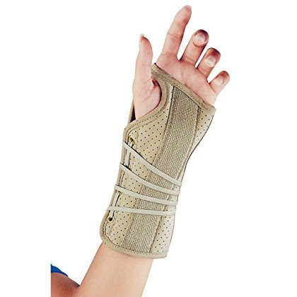 Wrist brace Soft fit Beige Right small FLA Orthopedics