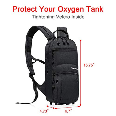 iGuerburn Oxygen Tank Backpack Portable Oxygen Cylinder Carrying Carrier Bag Medical O2 Tank Holder for Size M2, A/M4, ML6, B/M6, M7, C/M9 (Do not fit