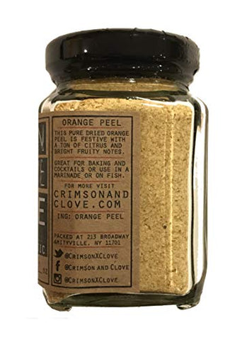 Finely Granulated Orange Peel By Crimson and Clove (3.0 Oz.)