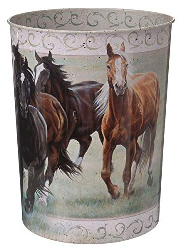 OK Goods Gift Corral Waste Basket Horses
