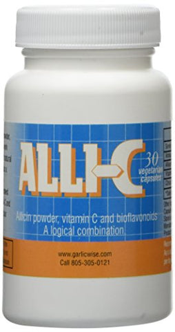 Alli C Allicin With Vitamin C And Bioflavonoids   30 Vegetarian Capsules Capture The Power Of Garlic