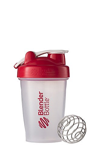 BlenderBottle C00575 classic-20-red Blender bottle, 20-Ounce Loop Top, Clear/Red