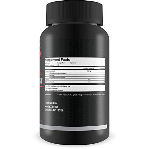 Best Selling- Muscle X Boost- Premium L-Arginine Formula- Extra Strength Muscle Growth Support- Nitric Oxide Booster-Build Lean Muscle-Stimulates Protein Synthesis-Boost Endurance