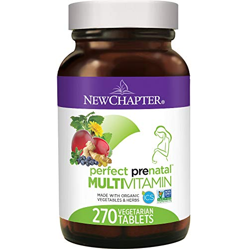 New Chapter Perfect Prenatal Vitamins, 270 Ct, Organic Non Gmo Ingredients   Eases Morning Sickness