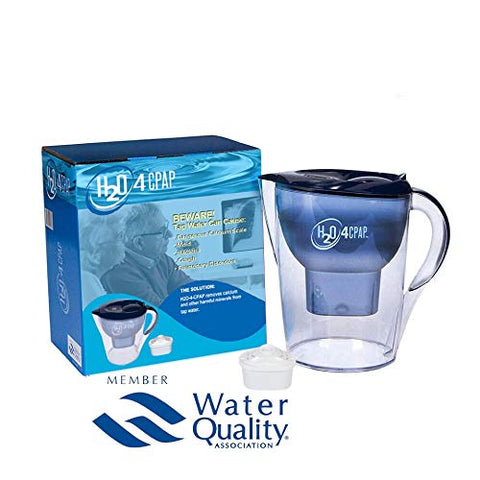 H2O 4 CPAP Ion Distilled Water System for CPAP or BiPAP Humidifier Water Chamber | CPAP Supplies & Accessories for Sleep Apnea | Removes Harmful Calcium & Minerals from Tap Water
