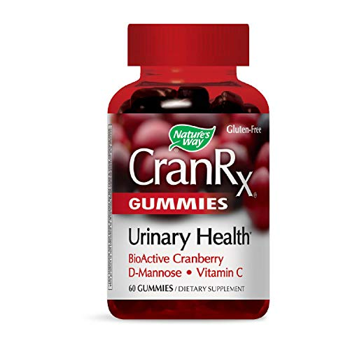 Nature's Way CranRx Gummy Urinary Health BioActive Cranberry + D-Manonse + Vitamin C, 60 Gummies