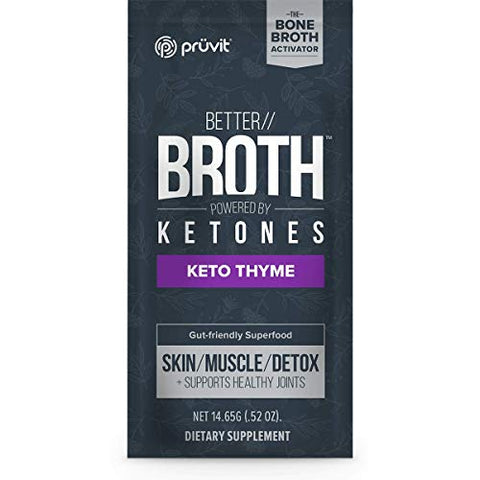 Pruvit Better Broth 20 Packets Keto Thyme Pure Therapeutic Ketones Collagen ac-11