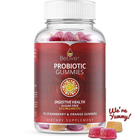 Probiotic Gummies For Kids & Adults For Digestive Health, High Potency Formulation Vitamins Suppleme