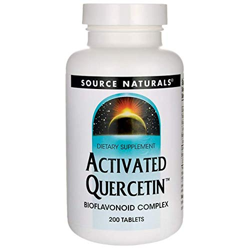 Source Naturals Activated Quercetin - Plant-Derived Bioflavonoid Complex - Seasonal & Immune Defense - 200 Tablets VEGETARIAN FRIENDLY