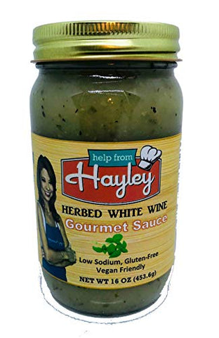 Herb White Wine Cooking Sauce by Help from Hayley Sauces- low sodium, low fat, vegan friendly, gluten free
