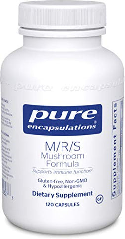 Pure Encapsulations - M/R/S Mushroom Formula - Hypoallergenic Supplement Promotes Immune Health and Provides Broad-Spectrum Physiological Support* - 120 Capsules