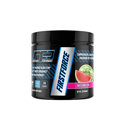 FIRSTFORCE Pre-Workout Formula - Watermelon, 40 Servings