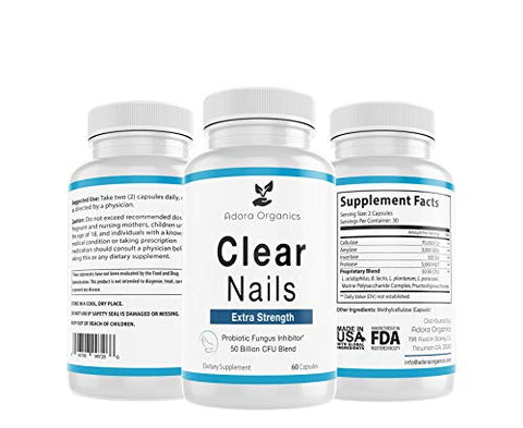 Clear Nails - Extra Strength - Probiotic Fungus Inhibitor - 50 Billion CFU
