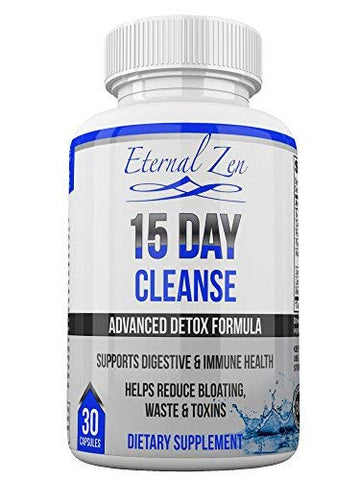 15 Day Colon Cleanser Detox With Extra Strength Herbs And Probiotics, Senna Is A Fast Acting Natural