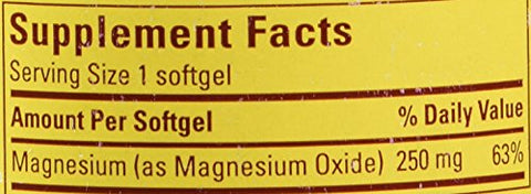 : Nature Made Magnesium Liquid ,90 Softgel ,250mg