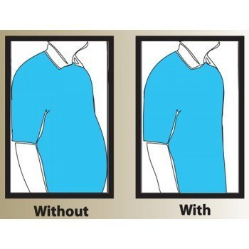 Frogwill Mens Posture Correction/Support/Pain Relief Slimming Body Vest Shirt (L, White New)