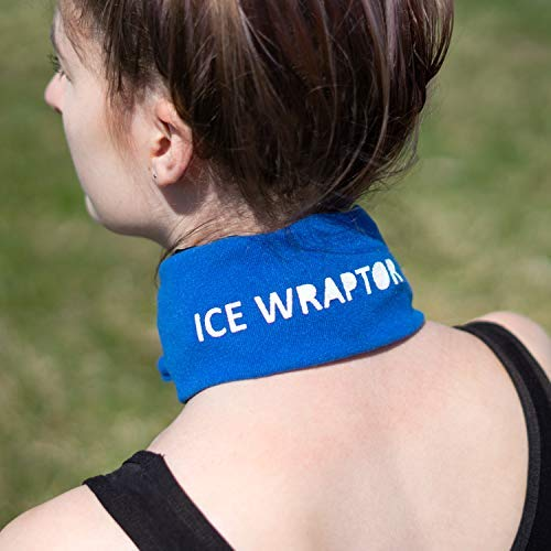 "Blue Ice Wraptor Bandana, Keep Your Neck, Head, and Joints Cool, One Size Fits All, Fits Ice Packs up to 2.5"" x 15"", Includes 1 ThemaFreeze Insert (6 x 1 Cell: 2.5"" x 15"")"