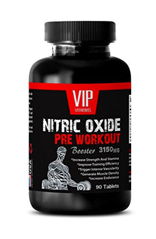 Nitric Oxide Energy and Muscle Enhancement - Nitric Oxide Pre-Workout Booster 3150mg - Workout Supplements for Men (1 Bottle 90 Tablets)