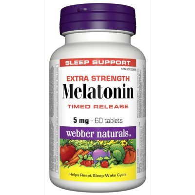 Webber Naturals Melatonin Time Release 5 mg, 60tabs