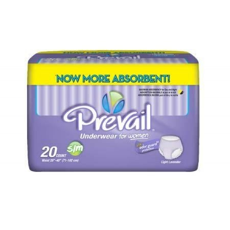Prevail Protective Underwear For Women, Maximum Absorbency, Small/Medium, 20 Count (4 Pack (80 Count