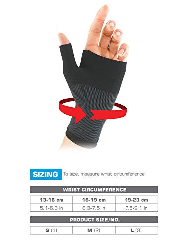 Neo G Wrist and Thumb Support - Ideal for Arthritis, Joint Pain, Tendonitis, Sprains, Hand Instability, Sports - Multi Zone Compression Sleeve - Airflow - Class 1 Medical Device - Small - Black
