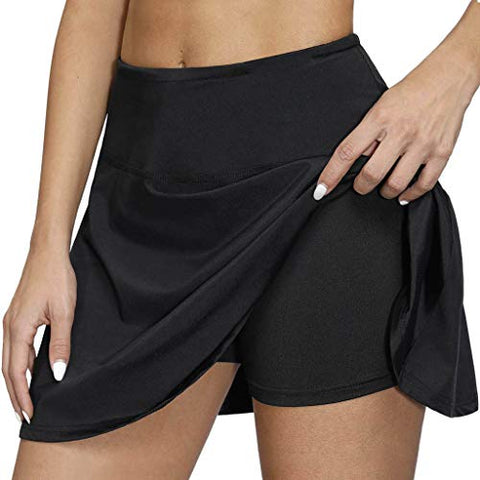 heavKin-Clothes Womens Tennis Skirts Elastic Waist Golf Casual Shorts with Pockets,Breathable Quick-Drying Running Yoga Inner Shorts S-XXL