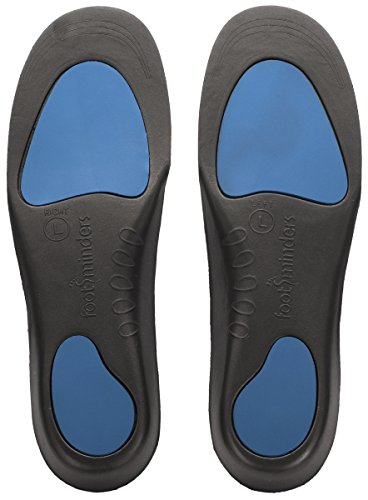 Footminders Comfort Orthotic Arch Support Insoles for Sport Shoes and Work Boots (Pair) (Medium: Men 7 - 9 Women 8 -10) - Relieve Foot Pain Due to Flat Feet and Plantar Fasciitis
