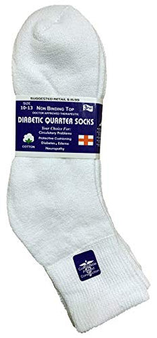 Yacht & Smith King Size Loose Fit Non-Binding Soft Cotton Diabetic Crew & Ankle Socks, Bulk Value Pack (6 Pack White Ankle, King (13-16))