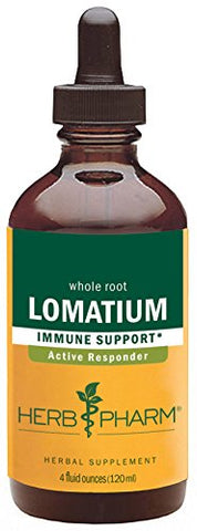 Herb Pharm Lomatium Liquid Extract for Immune System Support - 4 Ounce