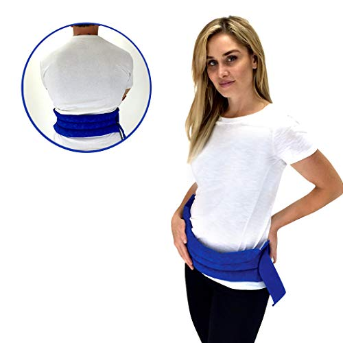 Nature Creation Back & Abdomen Herbal Heating Pad- Tense, Sore Muscles Relief - Reusable Hot and Cold Therapy (Blue Marble)