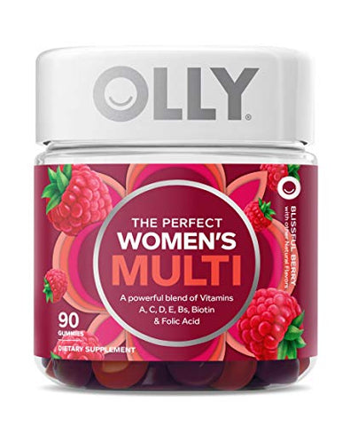 Olly Women's Multivitamin Gummy, Berry, 90 Count