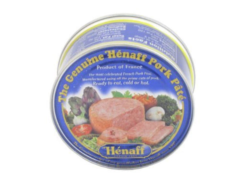 Henaff French Pork Pate Pure Porc 96% - 153 gram can (2 PACK)