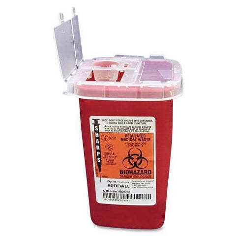 COVIDIEN SR1Q100900 Sharps 1 Quart Phlebotomy Container with Lid - 1 Quart Capacity - 6.3