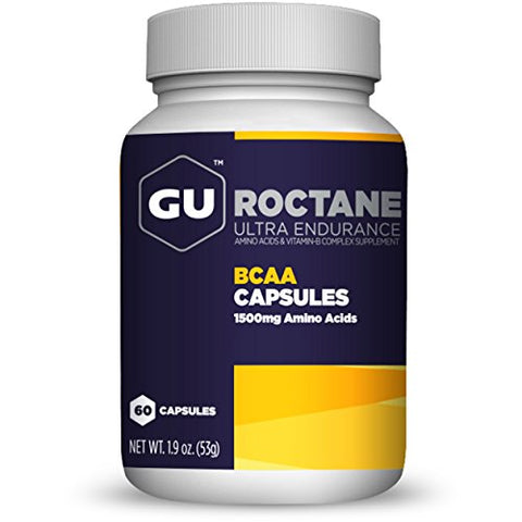 GU Energy Roctane Ultra Endurance Branch Chain Amino Acid and Vitamin B Exercise Recovery Capsules, 60-Count Bottle