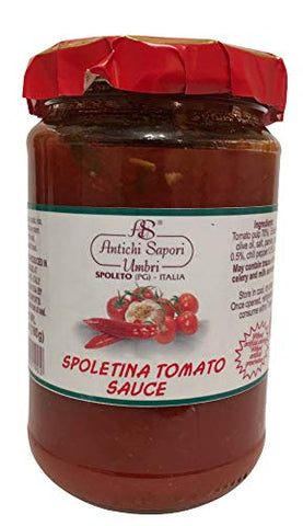Italian Sauce for Pasta, Meat, Eggs, Rice and toasted bread! (Tomato Sauce - Spoletina, 9.87oz - 280gr)