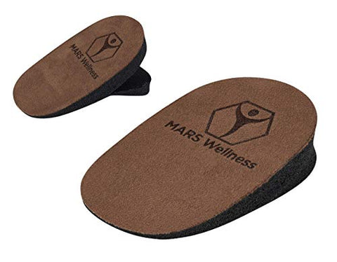 Adjustable 1 Inch Orthopedic Heel Lift for Heel Pain and Leg Length Discrepancies - Medium - 2 Pack