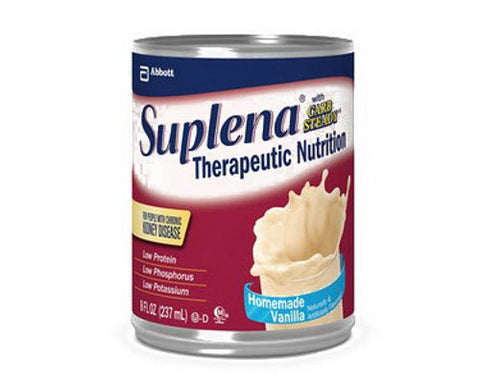 Suplena with Carb Steady Vanilla Cans 24 X 8oz Case ***2 CASE SPECIAL***