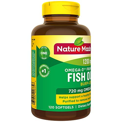 Nature Made Burp Less Omega 3â? â?  From Fish Oil 1200 Mg Softgels, 120 Count (Packaging May Vary)