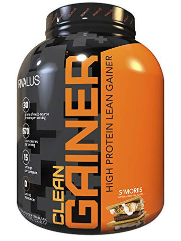 Rivalus S'Mores Clean Gainer, 5 Pound - Delicious Lean Mass Gainer with Premium Dairy Proteins, Complex Carbohydrates, Quality Lipids, No Banned Substances, Made in USA