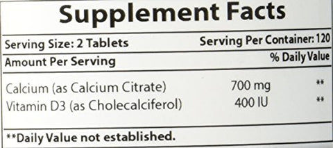 Best Naturals Calcium Citrate with Vitamin D-3 240 Tablets