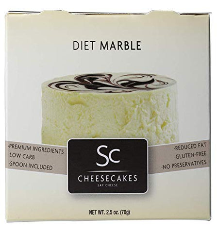 Pack of 12 Say Cheese Gourmet Mini Diet Cheesecake - Diet Marble