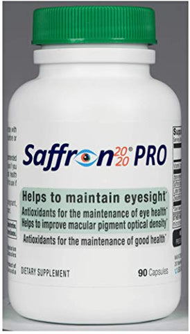 Saffron 2020-PRO Saffron Eye Health Supplement Provides Macular pigments, and Helps Maintain Eyesight.