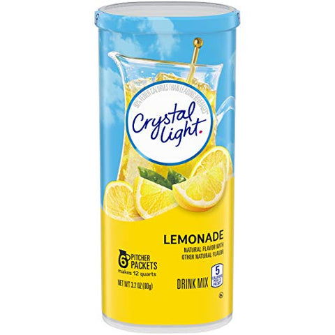 Crystal Light Lemonade Drink Mix (72 Pitcher Packets, 12 Canisters of 6)