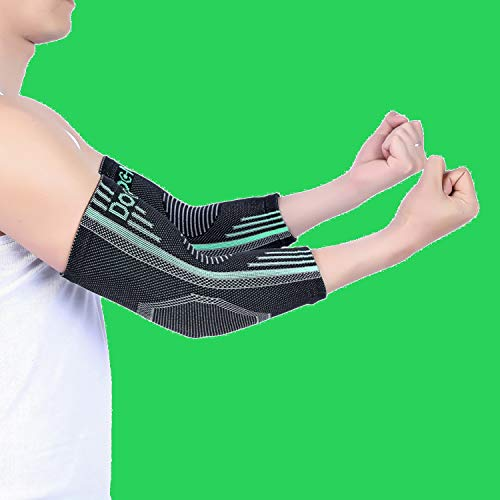 Doc Miller Elbow Brace Compression Sleeve   1 Pair   Tennis Elbow Support, Golferâ??S Elbow, Tendoni