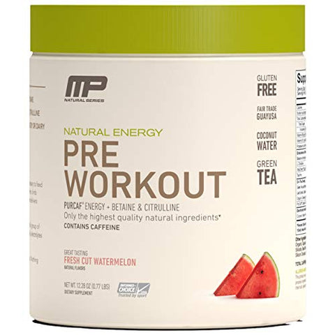 Muscle Pharm Mp All Natural Pre Workout, Increase Energy, Endurance And Strength   Organic Caffeine,