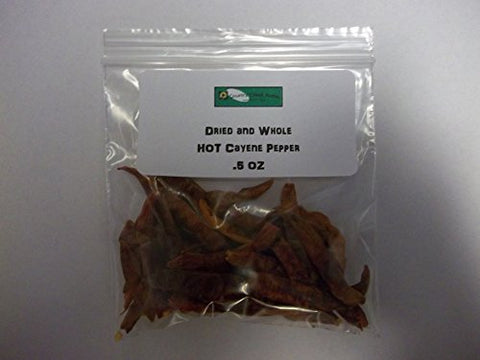 CAYENNE PEPPER, WHOLE DRIED, ORGANIC, 4 OZ, DELICIOUS FRESH SPICY DRIED HERB