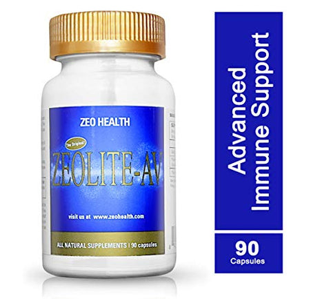 Zeolite-AV Capsules | Potent Immune System Booster with Humic Acid | Restore Trace Minerals, Replenish Electrolytes, Remove Toxins | Promotes Energy, Restful Sleep, Alleviates Brain Fog (90 Count)