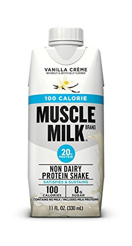 Muscle Milk 100 Calorie Protein Shake, 20g Protein, Vanilla Creme, 12 Count
