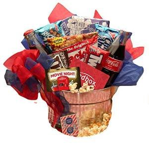 Red Box Movie Night Gift Basket