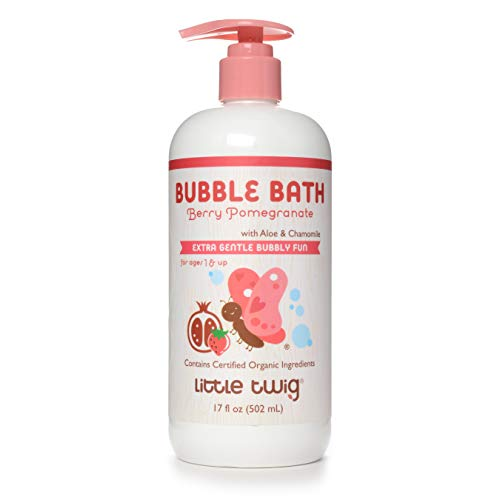 Little Twig All Natural Bubble Bath, Berry Pomegranate, 17 Ounce